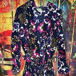 Vera Bradley Floral Fleece Robe